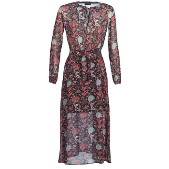 textil Mujer vestidos largos Ikks  Negro / Rojo / Gris