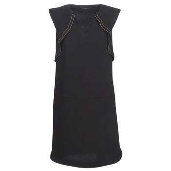 textil Mujer vestidos cortos Ikks BN31075-02 Negro