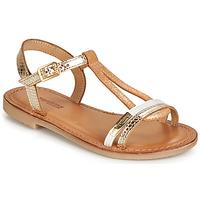 Zapatos Niña Sandalias Les Tropéziennes par M Belarbi BADA Oro / Blanco