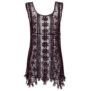 textil Mujer vestidos cortos Banana Moon JOSY DREAMLAND Negro
