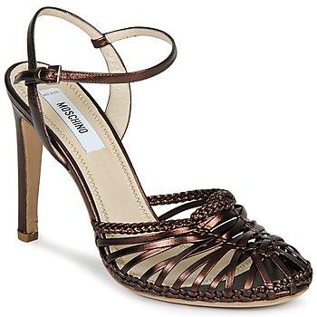 Zapatos Mujer Sandalias Moschino MA1603 Ebano