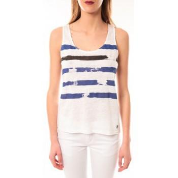 textil Mujer Camisetas sin mangas Little Marcel Débardeur Dicola Navy E15FTAN0302 Marin Azul