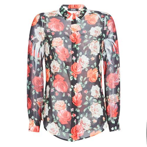 Guess CLOUIS Negro / Multicolor - Envío gratis | ! - textil camisas Mujer