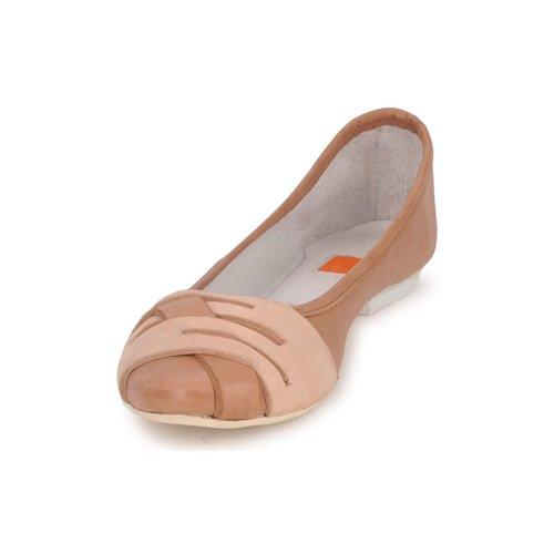 Cognac manoletinas Bailarinas Mujer Girbaud Boom Zapatos Marithéamp; Francois 1KJcTlF3