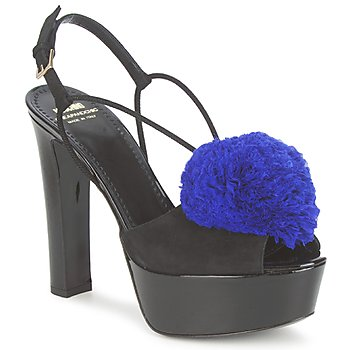 Zapatos Mujer Sandalias Moschino Cheap & CHIC CA1608 Negro azul / Klein