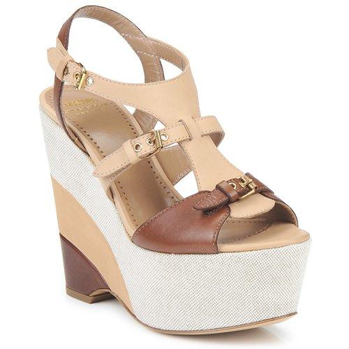 Zapatos Mujer Sandalias Moschino Cheap & CHIC STERLIZIA Beige marrón