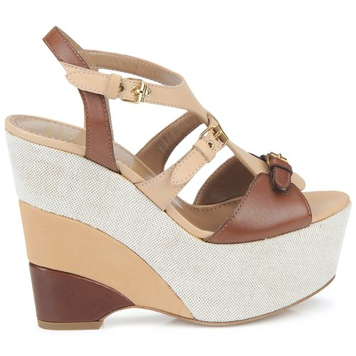 Moschino Cheap & Chic Sterlizia Beige Marrón - Envío Gratis Zapatos Sandalias Mujer 329
