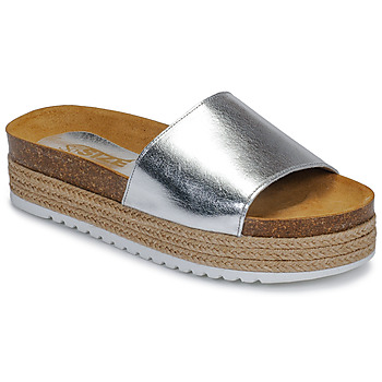 Zapatos Mujer Zuecos (Mules) So Size JITRUNE Plata