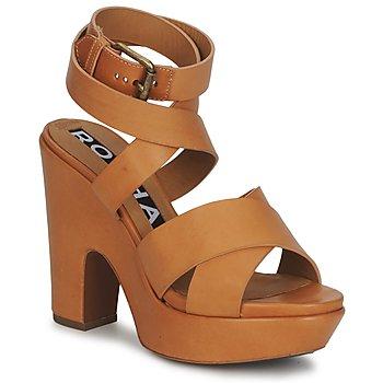 Zapatos Mujer Sandalias Rochas RO18082 Marrón