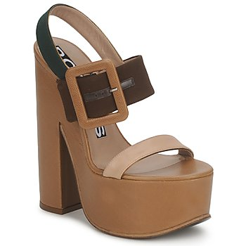 Zapatos Mujer Sandalias Rochas RO18231 Oscuro / Beige