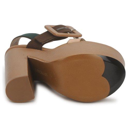 Casual salvaje Zapatos especiales Rochas RO18231 Oscuro / Beige