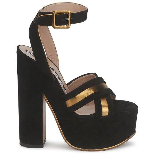 f72ed429e1b ... Zapatos promocionales Rochas RO18238 Negro Venta de liquidación de  temporada ...