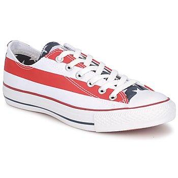 Zapatos Zapatillas bajas Converse ALL STAR STARS & BARS OX Blanco / Azul / Rojo