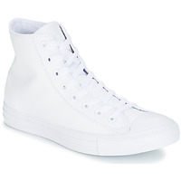 Zapatos Zapatillas altas Converse ALL STAR MONOCHROME CUIR HI Blanco