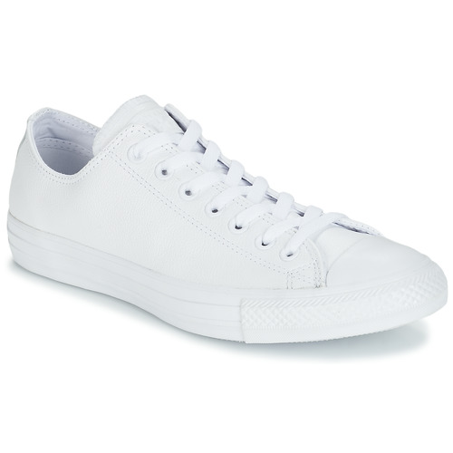 Zapatos Zapatillas bajas Converse ALL STAR MONOCHROME CUIR OX Blanco