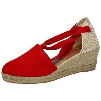 Zapatos Mujer Alpargatas Torres Valencianas rojas Rojo