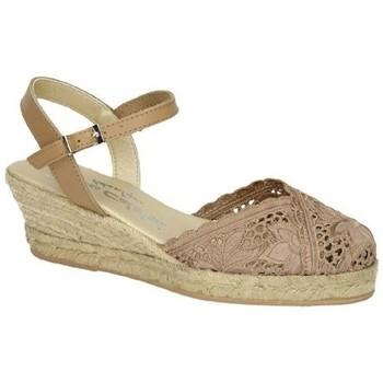 Zapatos Mujer Alpargatas Torres Zapatillas de encaje Marrón