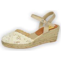Zapatos Mujer Sandalias Torres Zapatillas de encaje Beige