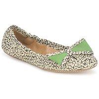 Zapatos Mujer Bailarinas-manoletinas Maloles BLANCHE Negro / Blanco / Verde