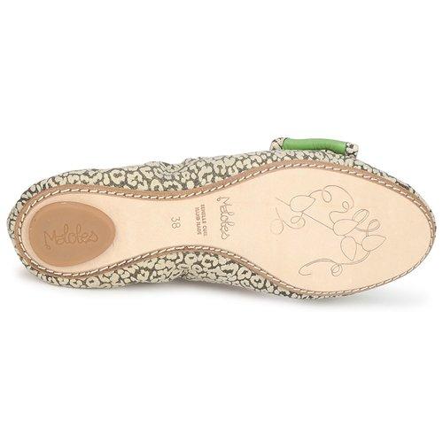 manoletinas Verde Blanche Bailarinas Mujer Maloles NegroBlanco Zapatos 53RjLA4