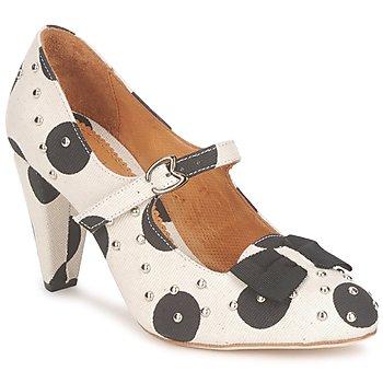 Zapatos Mujer Zapatos de tacón Maloles CLARITA Blanco / Negro
