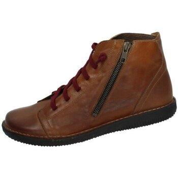Zapatos Mujer Botas de caña baja Boleta Botin cordÓn ocre Beige