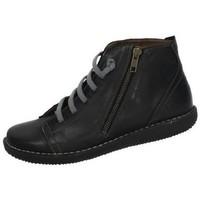 Zapatos Mujer Botas de caña baja Boleta Botines piel Negro