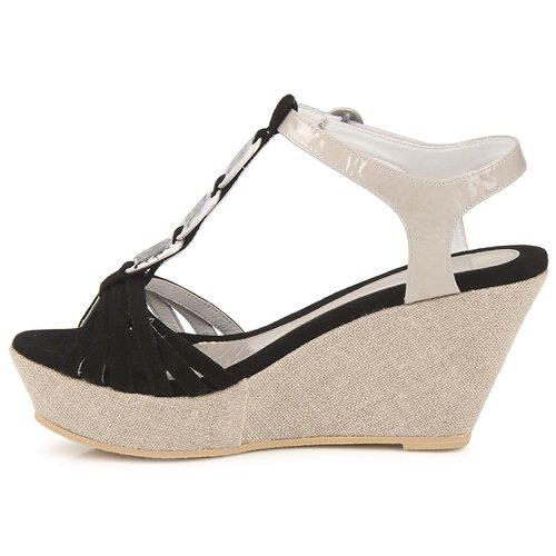 Sandalias Negro Rafaza Zapatos Mujer Regard EDYWIeH29
