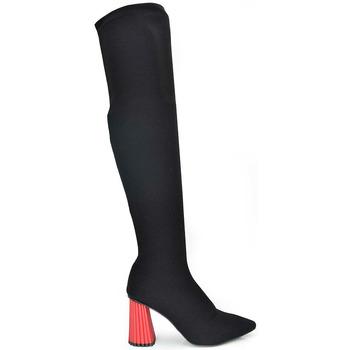 Zapatos Mujer Zapatos de tacón Exé Shoes BOTA ALTA TACON TEXTURA SANDY-496 Color Negro