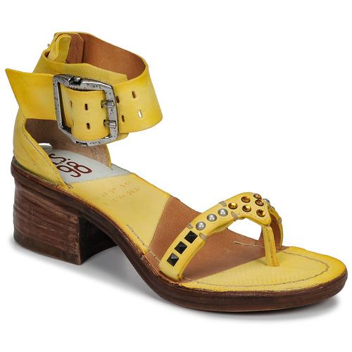 Zapatos Mujer Sandalias Airstep / A.S.98 KENYA Amarillo