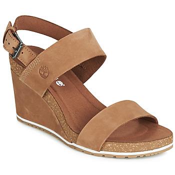 Zapatos Mujer Sandalias Timberland CAPRI SUNSET WEDGE Marrón