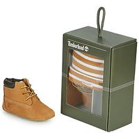 Zapatos Niños Pantuflas Timberland CRIB BOOTIE WITH HAT Trigo