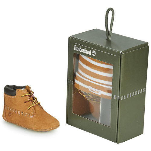 Zapatos Niños Pantuflas Timberland CRIB BOOTIE WITH HAT Trigo / Marrón