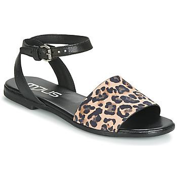 Zapatos Mujer Sandalias Mjus CHAT LEO Negro / Leopardo