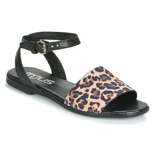 Sandalias Chat Zapatos Mujer Leo Mjus NegroLeopardo lJKF1c