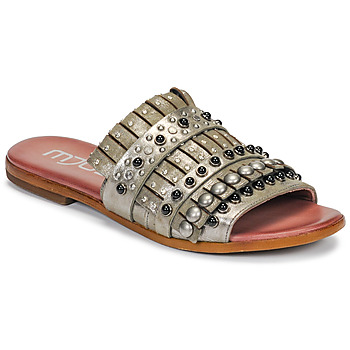 Zapatos Mujer Zuecos (Mules) Mjus CHAT MULE Kaki / Metal