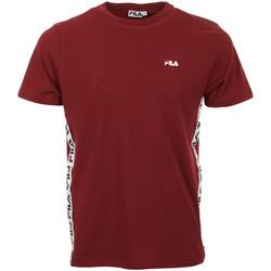 textil Hombre camisetas manga corta Fila Talan Tee SS Rojo