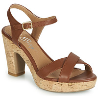 Zapatos Mujer Sandalias Betty London JIKOTIK Camel