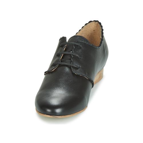 London Zapatos Jikotefe Mujer Betty Derbie Negro thrsQd
