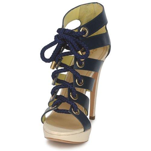 Zapatos Pollini Sandalias Mujer Pa1609cc1v Azul 2EHDI9