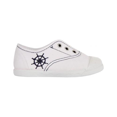 Zapatos Niños Zapatillas bajas Cotton Club CC0002 Blanco