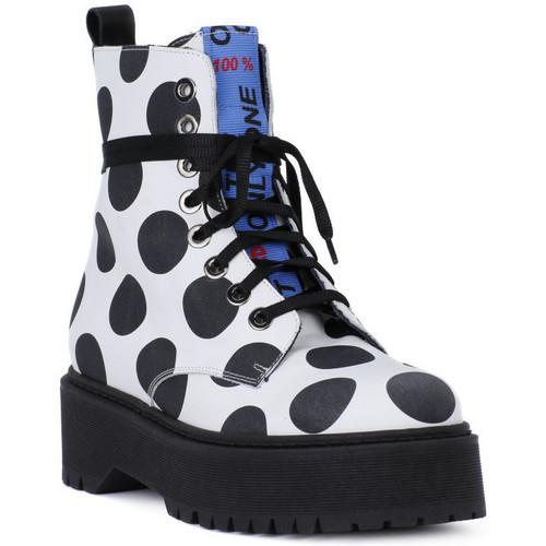 At Go GO BIG POIS NERO Bianco - Zapatos Botas de caña baja Hombre
