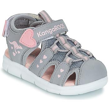 Zapatos Niña Sandalias Kangaroos K-MINI Gris / Rosa