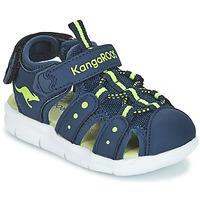 Zapatos Niño Sandalias Kangaroos K-MINI Marino / Amarillo