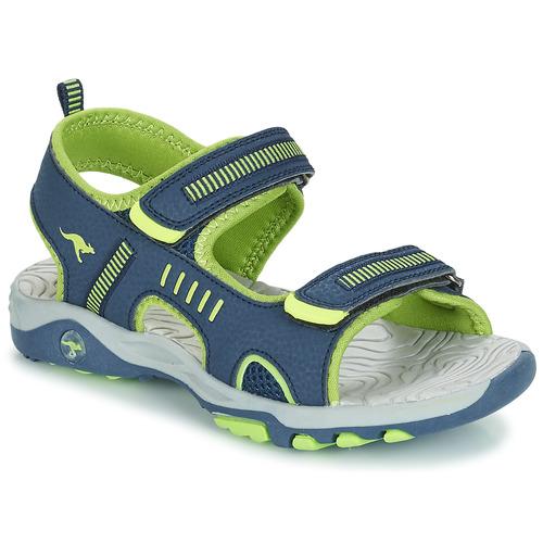 Zapatos Niño Sandalias Kangaroos K-LOGAN Marino / Verde
