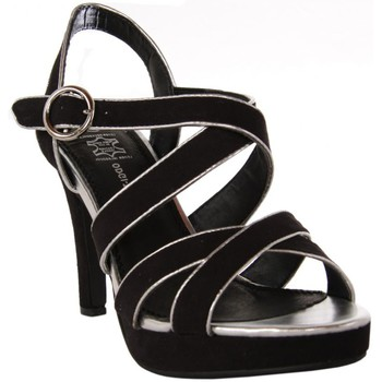 Zapatos Mujer Sandalias Odgi-Trends 727782-B7200 BLACK-SILVER Negro