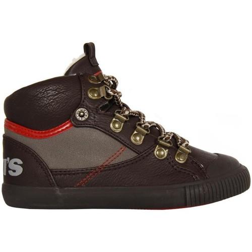 Zapatos Niño Zapatillas altas Levi's 380920-40 HOLDER Marr?n
