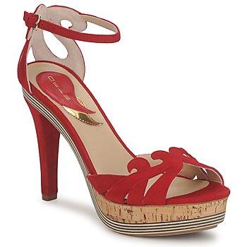 Zapatos Mujer Sandalias Etro 3488 Rojo