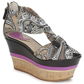 Zapatos Mujer Sandalias Etro 3467 Gris / Negro / Violeta