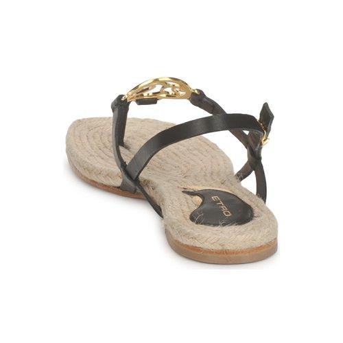 Zapatos Sandalias Mujer 3426 Negro Etro K1FJl3cT